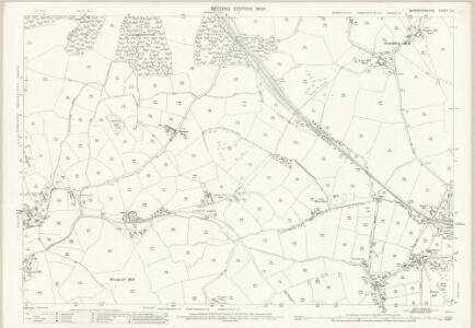 Worcestershire X.9 (includes: Belbroughton; Birmingham; Bromsgrove; Frankley; Romsley) - 25 Inch Map