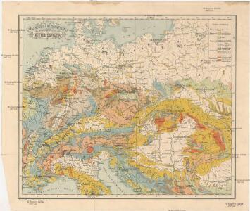 Geologische Übersichtskarte von Mittel-Europa