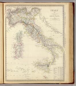 Italy general map.