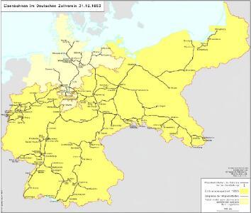 Eisenbahnen im Deutschen Zollverein 31.12.1853