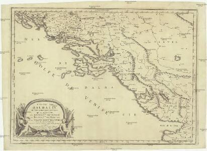 Coste de Dalmacie ou sont remarquees les places qui appartiennent a la republique di Venise, a la republique de Raguse et au grand seign. des Turqs