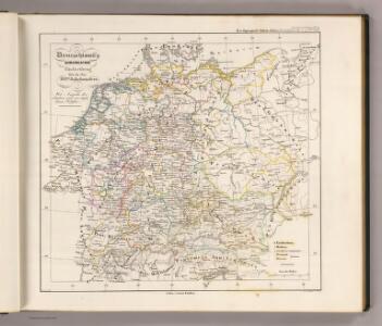 Deutschland's kirchliche Eintheilung bis in das XVIte. Jahrhundert.