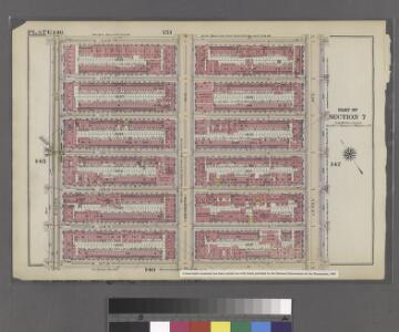 Plate 146: Bounded by W. 133rd Street, Lenox Avenue, W. 127th Street and Eighth Avenue.