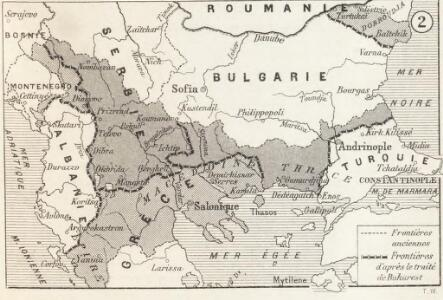Modifications territoriales dans le Balkans: Traité de Bukarest