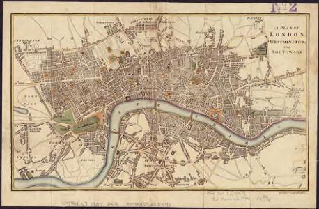 A plan of London, Westminster, and Southwark