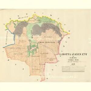 Lhotta Zabeczny - m3530-1-001 - Kaiserpflichtexemplar der Landkarten des stabilen Katasters