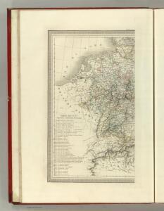 Carte Generale des Etats composant La Confederation Germanique.