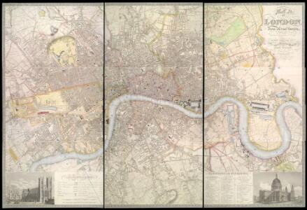 Map of LONDON From Actual Survey COMPREHENDING THE Various Improvements to 1851HUMBLY DEDICATED TO Her Most Gracious Majesty QUEEN VICTORIA By the Proprietors E. RUFF & Co.
