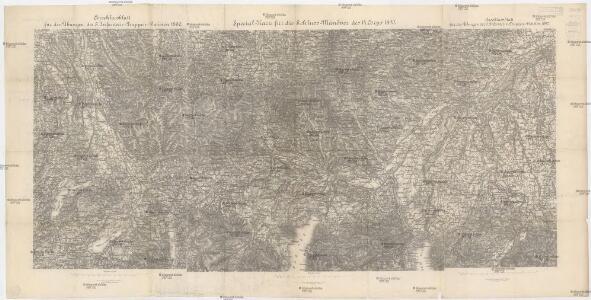 Special-Karte für die Schluss-Manöver des 14. Corps 1890
