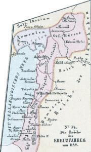 Die Reiche der Kreuzfahrer um 1142