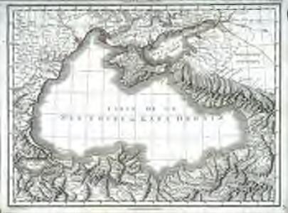 Carte de la mer noire ou Kara Degniz