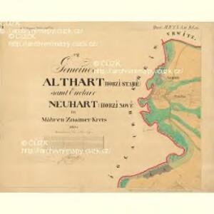 Althart - m2852-1-001 - Kaiserpflichtexemplar der Landkarten des stabilen Katasters