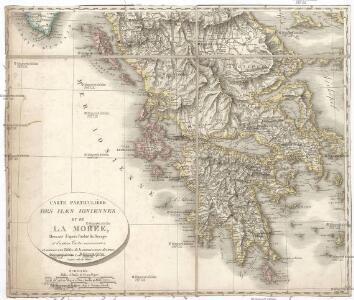 Carte particuliere des Iles Ioniennes et de la Morée