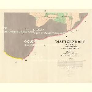 Mautzendorf (Motkow) - m1906-1-004 - Kaiserpflichtexemplar der Landkarten des stabilen Katasters