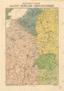 Nejnovější mapa bojiště německo - francouzského