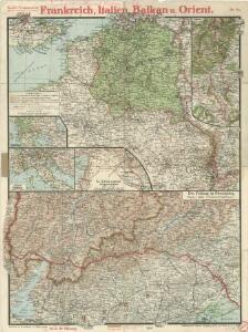Paasche's Frontenkarte, Nr. 24 Frankreich, Italien, Balkan u. Orient