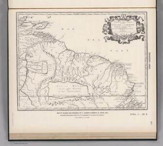 (Facsimile)  Guiana and Caribana by Sanson.