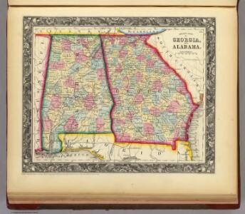 County Map Of Georgia, And Alabama.
