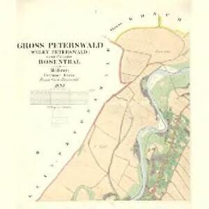 Gross Peterswald (Velky Peterswald) - m2280-1-001 - Kaiserpflichtexemplar der Landkarten des stabilen Katasters