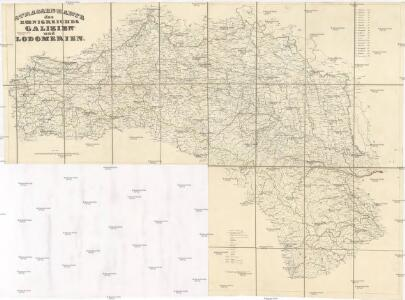 Strassen Karte Des Koenigreiches Galizien Und Lodomerien