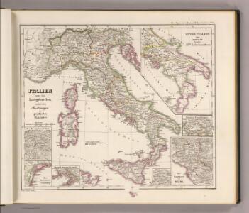 Italien under den Langobarden, nebst den Besitzungen der griechischen Kaiser.