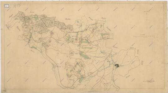 Hospodářská a porostní mapa revíru Dlažov, Miletice, Běhařov