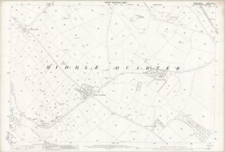 Derbyshire XXVII.3 (includes: Hartington Middle Quarter; Longnor; Sheen) - 25 Inch Map