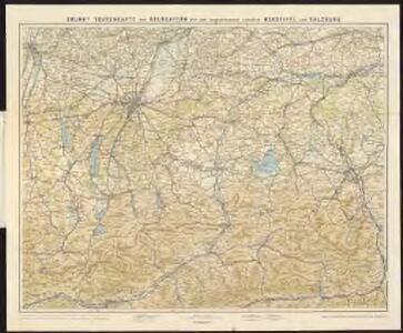 Brunn's Tourenkarte von Oberbayern mit angrenzenden Ländern Nordtirol und Salzburg