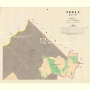 Dohle (Dalow) - m0412-1-002 - Kaiserpflichtexemplar der Landkarten des stabilen Katasters