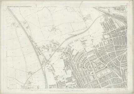 London (First Editions c1850s) XXXII (includes: Hammersmith; Kensington) - 25 Inch Map