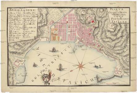Pianta della cesarea regia maritima citta e porto franco di Trieste