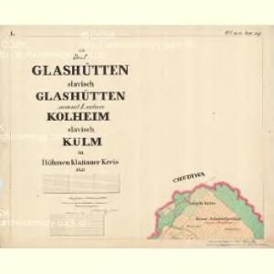 Glashütten - c6929-1-001 - Kaiserpflichtexemplar der Landkarten des stabilen Katasters