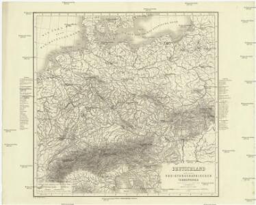Deutschland nach seinen oro-hydrographischen Verhältnissen