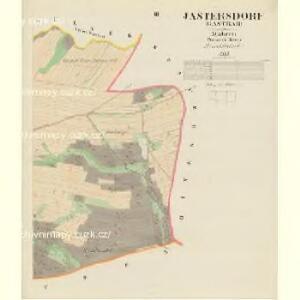 Jastersdorf (Gastřab) - m1076-1-003 - Kaiserpflichtexemplar der Landkarten des stabilen Katasters