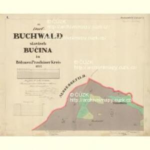 Buchwald - c0626-1-002 - Kaiserpflichtexemplar der Landkarten des stabilen Katasters