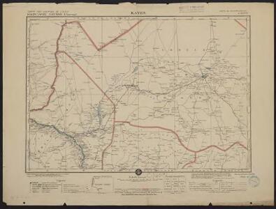 Carte des colonies de l'A.O.F. Kayes