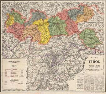 Generalkarte von Tirol und Vorarlberg