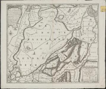 Afbeeldinge van Rhynlands waterstaat ten opzigte van 't vergrooten der Haarlemmer of Leydse Meer met de byna gecombineerde en omleggende veenplassen