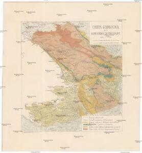 Carta geologica dei dintorni di Trieste