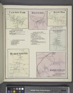 Clifton Park [Village]; Clifton Business Directory. ; Quaker Springs Business Directory. ; Quaker Springs [Village]; Maltaville [Village]; Maltaville Business Directory. ; Greenfield Centre Business Directory. ; Bacon Hill [Village]; Greenfield Center [V