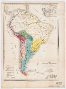 Carte de l'Amérique Méridionale