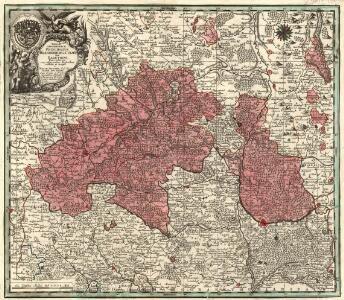 Tabulae Geographicae Principatus Brandenburg: Culmb: sive Baruthini Pars Inferior cum adjacentibus Regionibus exhibita et Sculpta