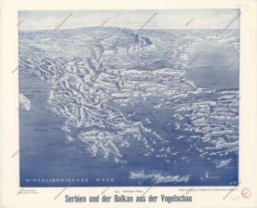 Serbien und der Balkan aus der Vogelschau
