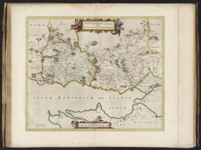 Annandiae praefectura, Vulgo, The Stewartrie of Annandail / auct. Timotheo Pont ; excud. I. Blaeu.
