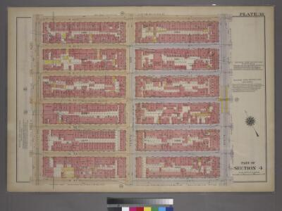 Plate 38, Part of Section 4: [Bounded by W. 53rd Street, Ninth Avenue, W. 47th Street and Eleventh Avenue.]