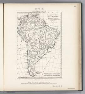 Facsimile:  South America by Bonne.