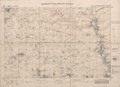 Salisbury Plain artillery ranges. Scale, 1 : 20,000