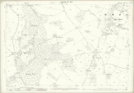 Hampshire and Isle of Wight LIV.11 (includes: Breamore; Fordingbridge; Rockbourne; Whitsbury) - 25 Inch Map