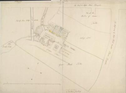 Drawn plan of the estate of Lord Berkley