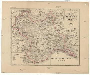 Karte von Piemont und Savoyen